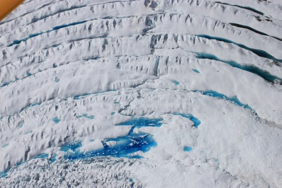 McCarthy, AK: Impossibly blue meltwater on a glacier