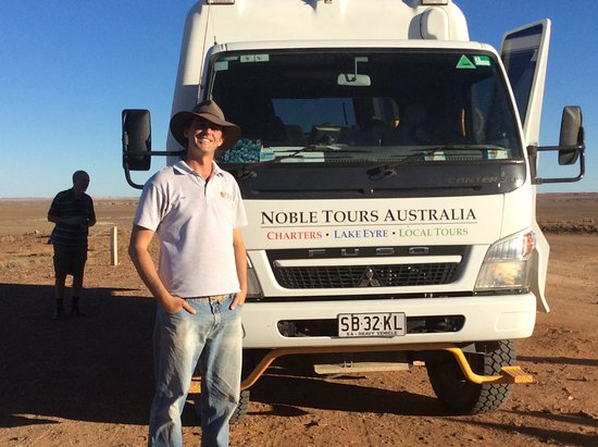 Coober Pedy, Australia: The owner, Aaron and tour operator.
