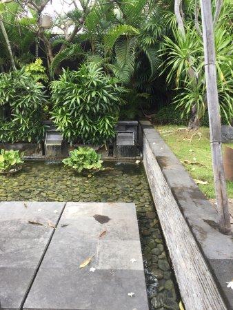 Peppers Seminyak: green villa entry