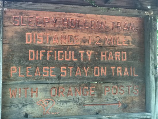 Mount Morris, IL: Sign at the beginning of Sleepy Hollow trail