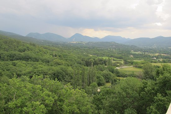 Le Poet-Laval, France: View from the terrace