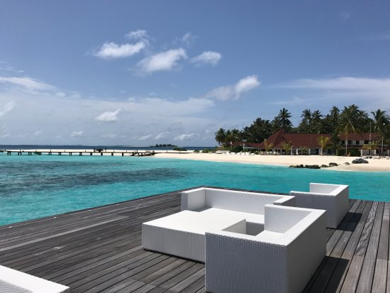 Diamonds Thudufushi : Blick vom Open Water Restaurant