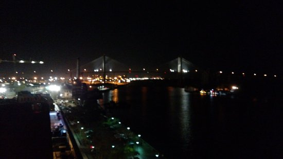 Beautiful night time view from the roof