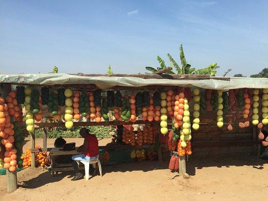 Limpopo Province, Güney Afrika: Roadside fruit stand.