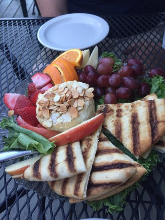 Keene Valley, NY: Baked Brie Plate Sprinkled With Honey & Almonds