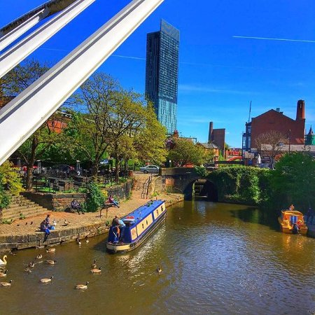 Manchester Water Taxis Waxi At Our Castlefield Stop In Central Opposite Barca Bar And