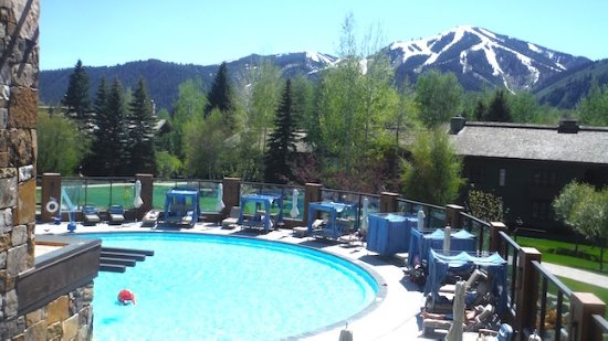 Sun Valley, ID: A view of the pool from the spa