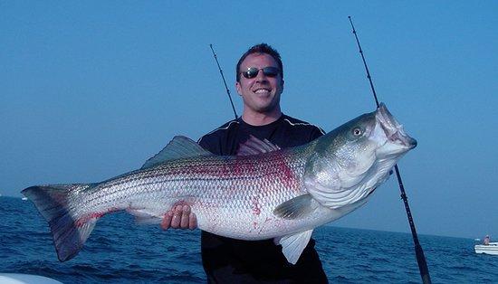 Orient, NY: A happy fisherman