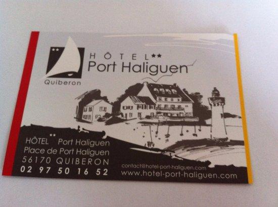 Hotel Port Haliguen Carte De Visite