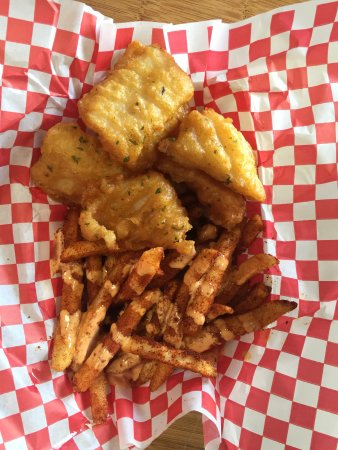 Maui Fish'n Chips: Basa fish with volcano fries