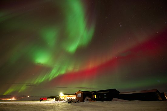 The Highland Center Hrauneyjar: Hrauneyjar Northern lights