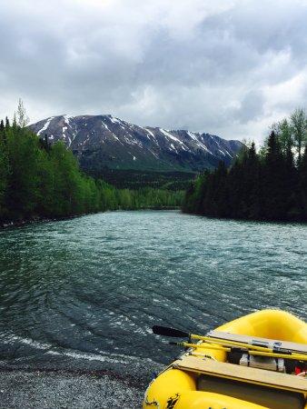 Kenai Riverside Lodge: Kenai River ready for rafting