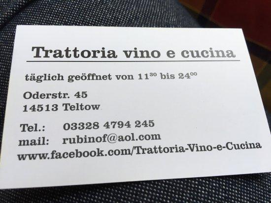 Teltow, Γερμανία: Trattoria Vino e Cucina