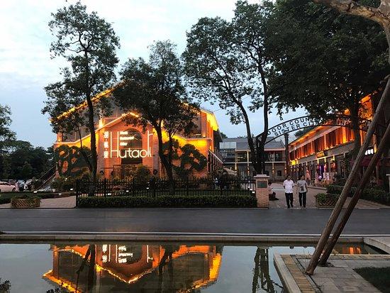 Jingdezhen, Китай: La zona de jardines es muy visitada por familias de la ciudad y turistas chinos