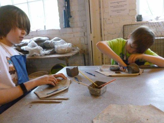 Coalport China Museum: Clay modelling