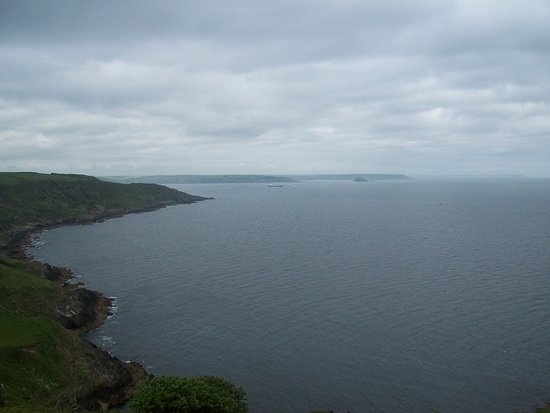 Looking back towards Plymouth from Rame Head