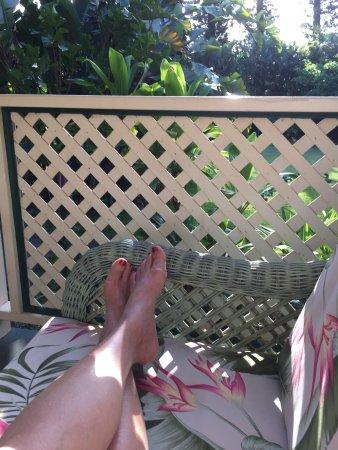 "Haiku Plantation Inn: Maui Bed and Breakfast: Relax on the 'veranda"" surrounded by Hawaiian vegetation!"