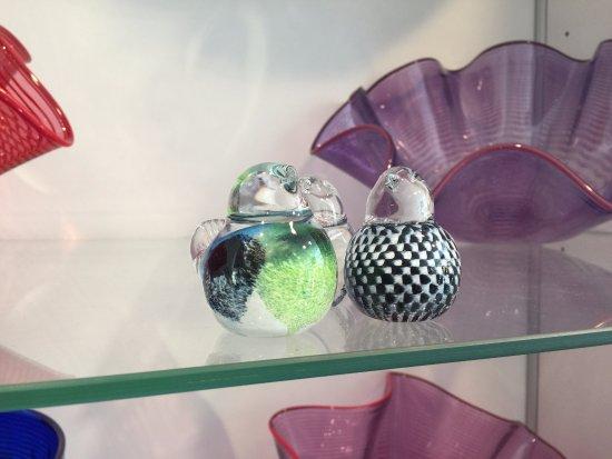 Wertheimer Glaskunst glass-blown sparrows