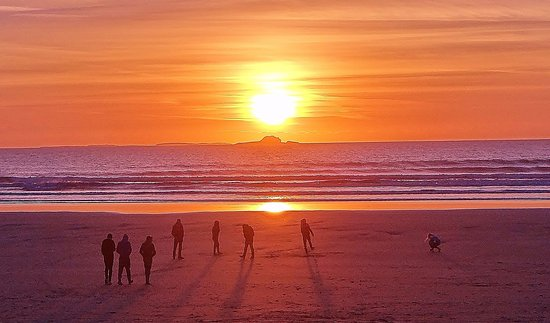 Tralee, Irlanda: Sunset At Banna Beach
