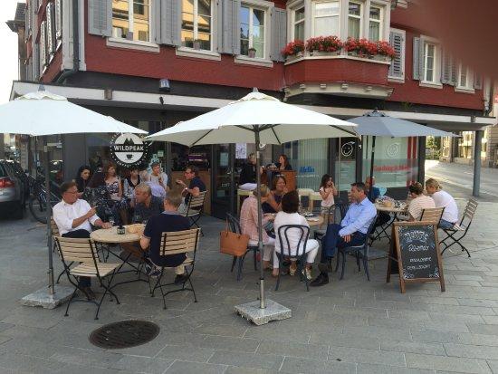 Unteraegeri, Svizzera: Sommerabend am Dorfplatz