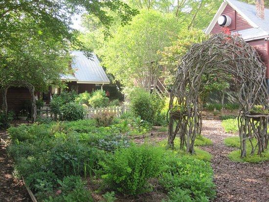 Garden area near restaurant