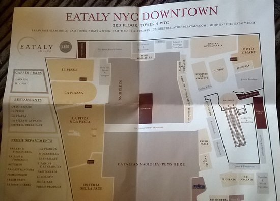Map Of New York Restaurants.Store Map Picture Of Eataly Downtown New York City Tripadvisor
