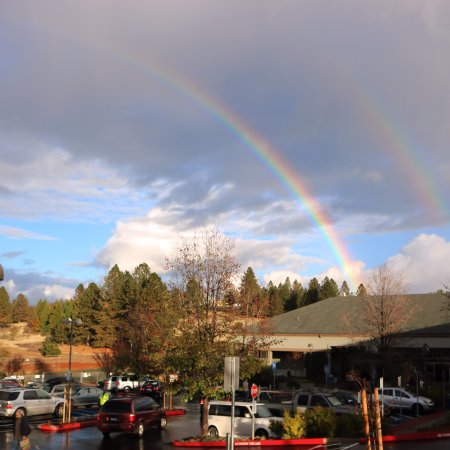Grass Valley, CA: Double rainbow over BriarPatch Food Co-op!