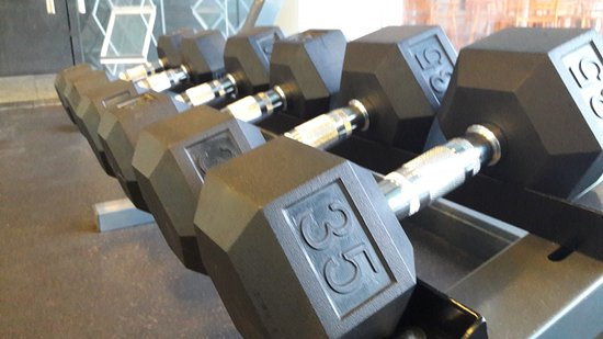 Holiday Inn Guayaquil Airport: Gym (Maximun weight on free weights).