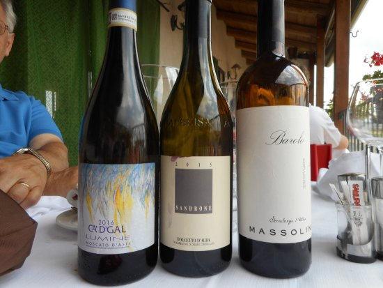 Osteria Da Gemma: wines served during our lunch