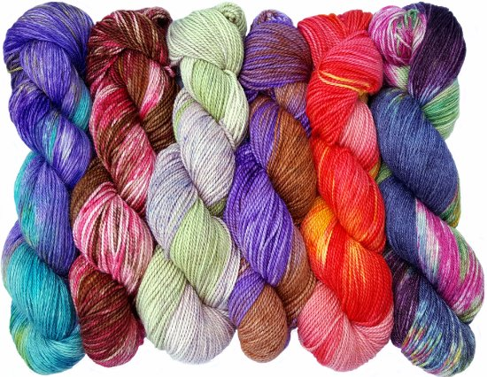 Onancock, VA: Ten Good Sheep hand dyed yarns in luxury fibers