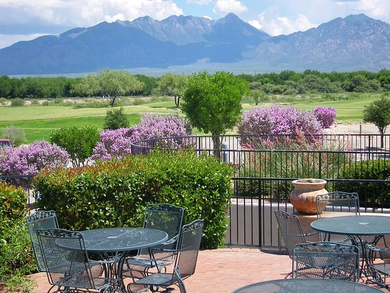Abrego Grill at Torres Blancas Golf Course: Looking out onto the Santa Rita's