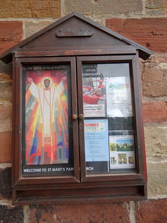 St Mary's Church: information board