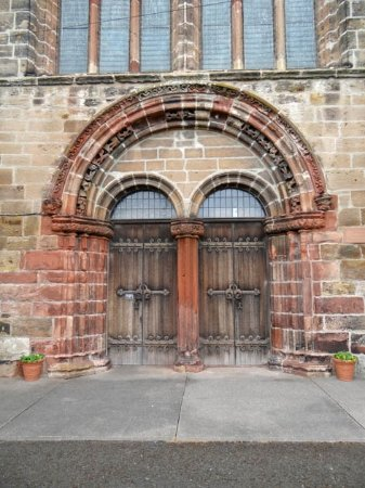St Mary's Church: the door
