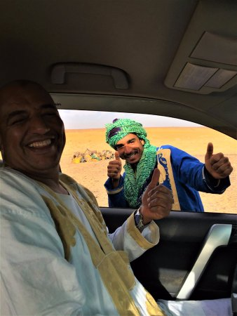 Your Morocco Tour LLC : our driver Hassan and camel guide