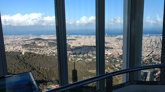 Torre de Collserola : View from the observation deck: Barcelona and the Mediterranean