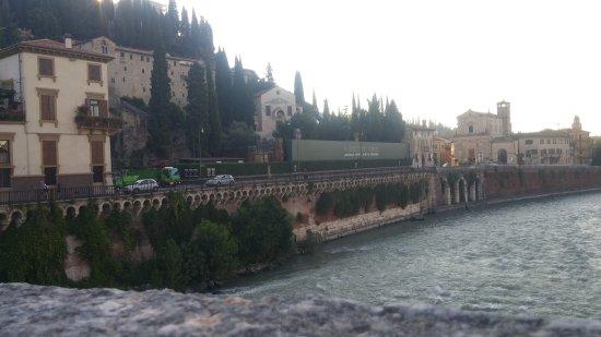 Ponte Pietra: view of Roman ruins from bridger
