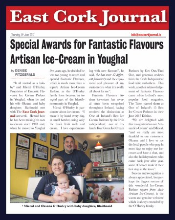 Youghal, Irlandia: East Cork Journal - Special Awards for Fantastic Flavours