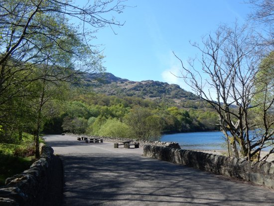 Loch Lomond and The Trossachs National Park, UK: The trail, using the the old loch side road