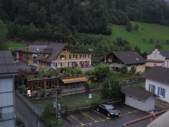 Sarnen, Sveits: Beautiful view from back of hotel (out my hotel window)