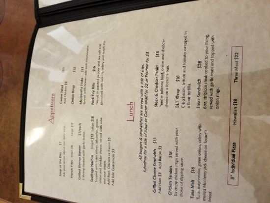 Cambridge Bay, Canada: Menus