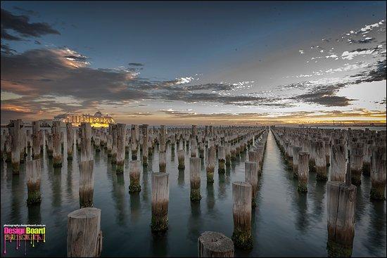 Port Phillip, Australia: View at sunset...