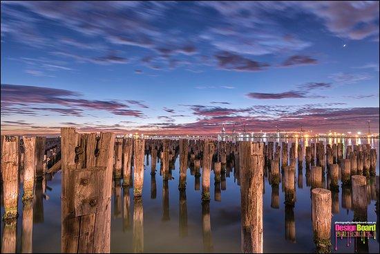 Port Phillip, Australien: View at sunset...