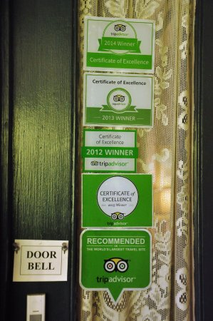 Albion Manor Bed and Breakfast : Accolades from Trip Advisor