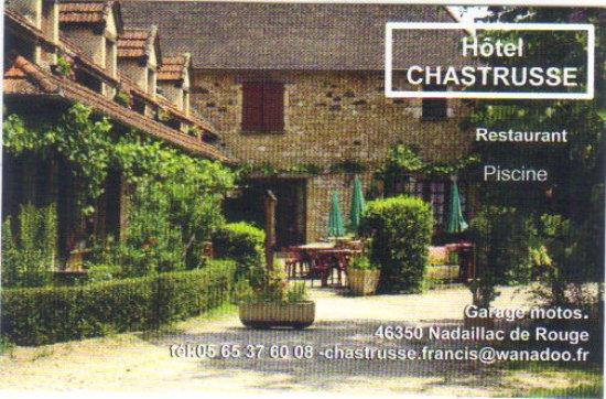 Hotel Restaurant Chastrusse Carte De Visite