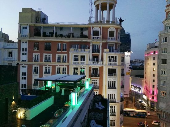 Vista Terraza Picture Of Hotel Mayorazgo Madrid Tripadvisor