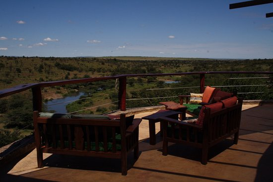 Amani Mara Camp: Spectacular views from the main lounge