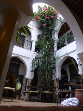 Riad d'Airain Marrakech: vue prise de la piscine