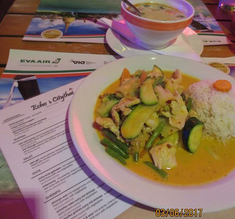 Echo & Citythai: Nicely spiced and nicely served dishes