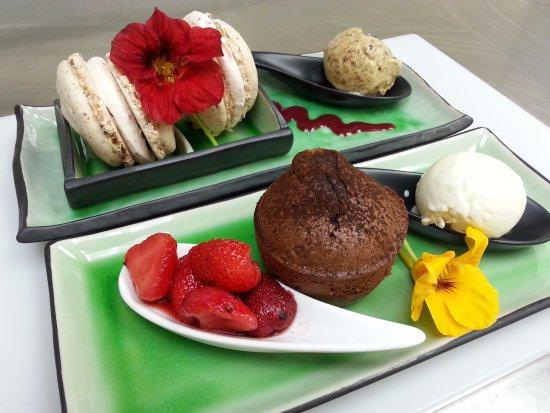 Dunkery Beacon Hotel: Coleridge Restaurant desserts