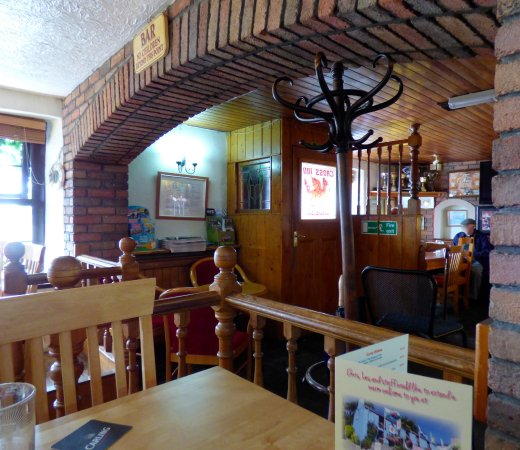 Cross Inn Penally: Bar part of pub.